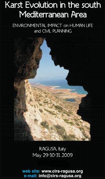 3° International Symposium on Karst Evolution in south Mediterranean Area
