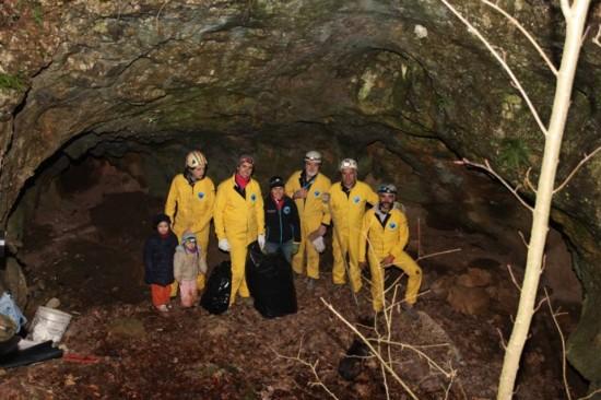 Grotta della Tartaruga dopo l'intervento dei soci CGEB
