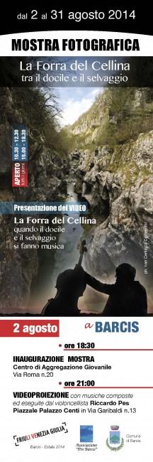 2 agosto x WEB Fronte Segnalibro-mostra fotografica a Barcis+video•agosto2014
