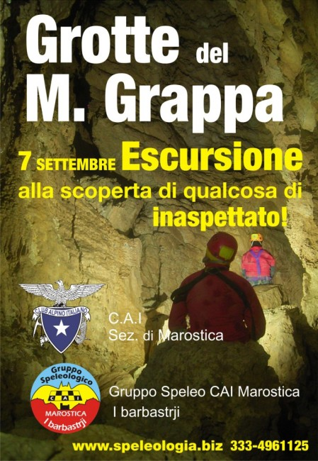 escursione alle grotte del grappa