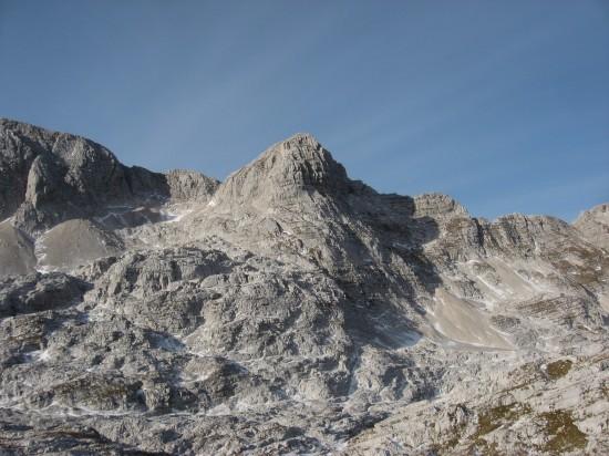 Cima Kanin, versante Sud sloveno