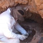 inizio dello scavo alla Cueva dell'Aria foto A.Gomez arch.storico G.S.M.