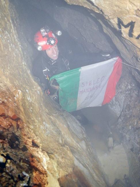 7 dic 2014 luca pedrali record italiano immersione in profondità speleomannari abisso Roversi