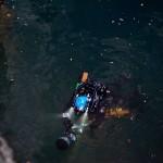 Luca Pedrali prima di immergersi