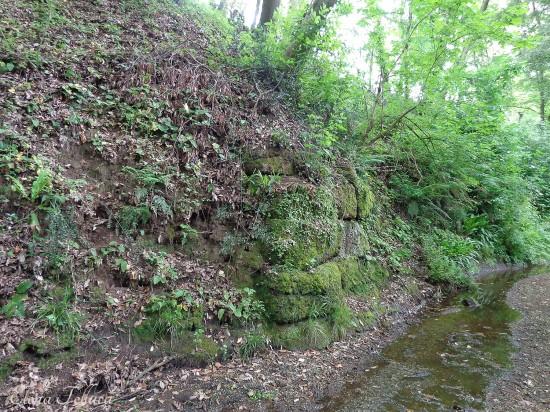 Bracciano (RM), Fosso di Cupinaio, resti di un ponte di attraversamento