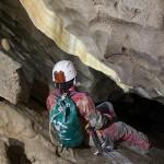 Concrezione a vela in una galleria di nuova esplorazione della Shpella Mark