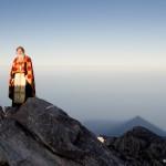 cima monte Athos monaco russo e cono d'ombra