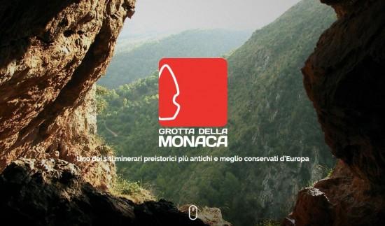 Home page del nuovo sito web di Grotta della Monaca