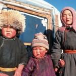 Bambini della Mongolia
