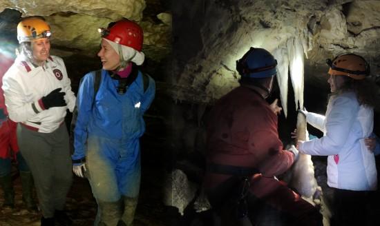 Alcuni momenti in grotta