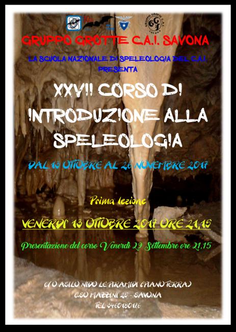 Corso Speleo Savona 2017