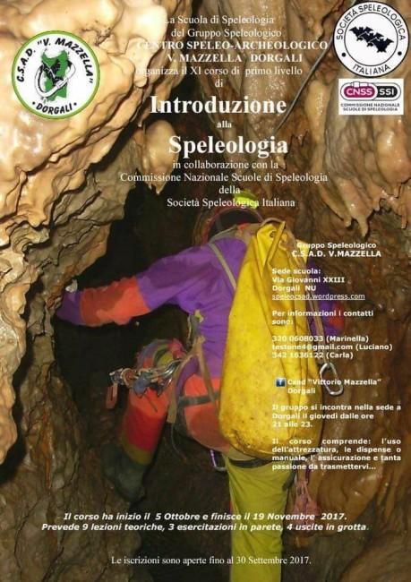 Corso di Speleologia a Dorgali