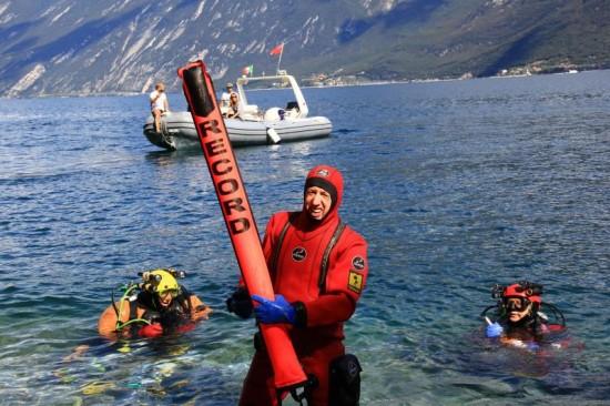 Luca pedrali record sub -264 metri
