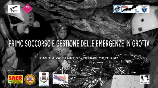 Corso Primo Soccorso e gestione dell' emergenza in grotta