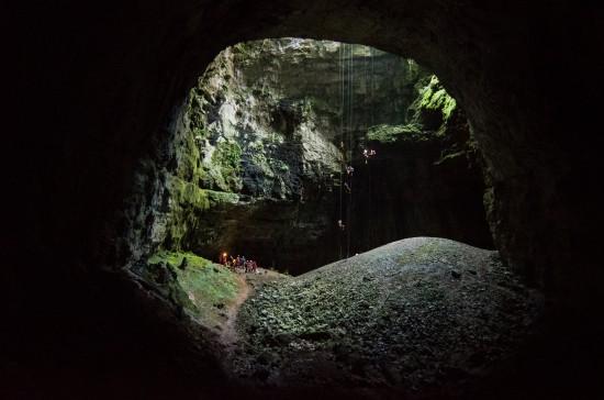 Grotta Noè: risalita su 6 corde