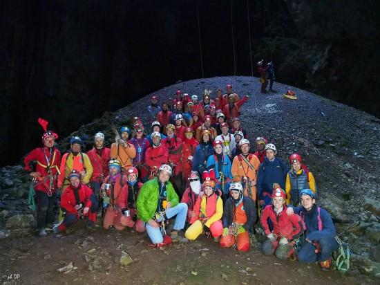 Foto di gruppo alla Grotta Noè 17.12.2017