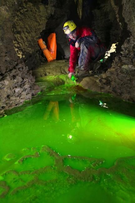 Tracciamento fluoresceina - Foto L. Aimar