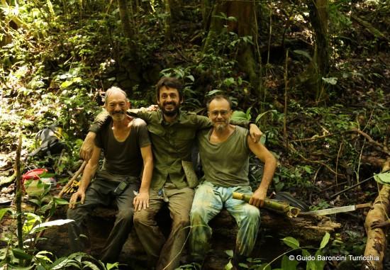 Bruco, Guido e Andrea nella foresta dei Folopa