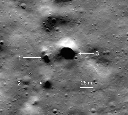 Tubi di Lava al Polo Nord della Luna