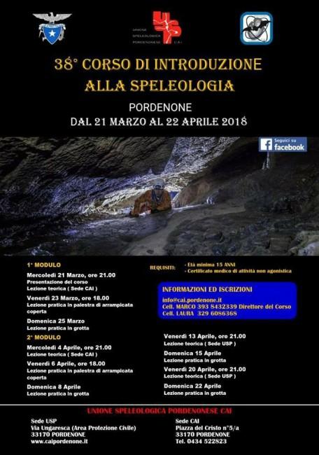 Corso speleologia Pordenone