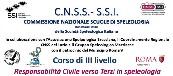 """Corso di III livello SSI """"Responsabilità Civile verso Terzi in speleologia"""""""