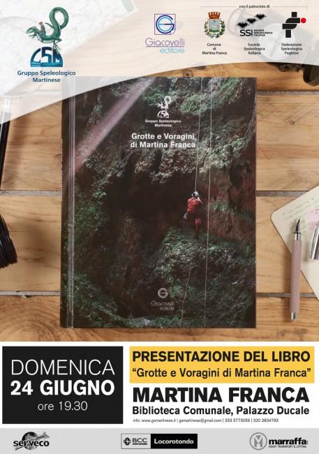 Presentazione del libro Grotte e Voragini di Martina Franca