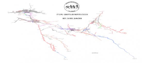 Sezione della grotta di Monte Cucco