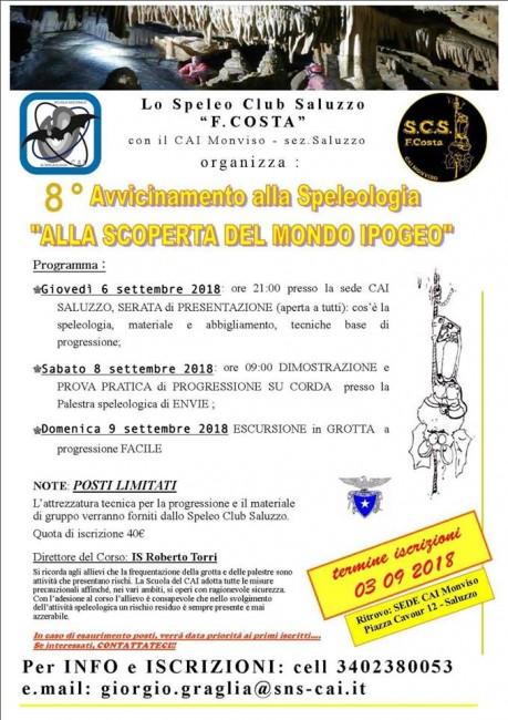 Corso Speleologia a Saluzzo