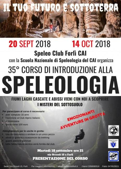 Corso Speleologia a Forlì