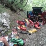 preparativi immersione Taramburla - foto Roberto Chiesa