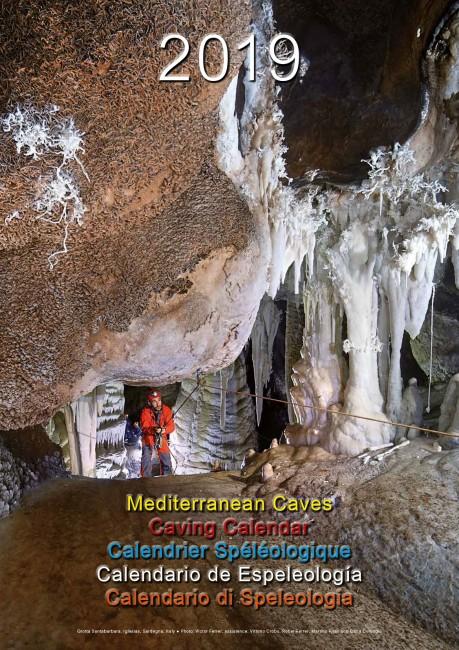 Calendario Mediterranean Caves 2019 espeleofoto