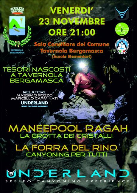 Locandina 23 novembre Underland a Tavernola Bergamasca