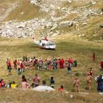Il salvataggio in Piaggia Bella nel 2007 e la partenza dell'Elicottero