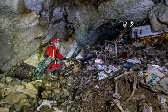 L'interno del Pozzo presso Gabrovizza
