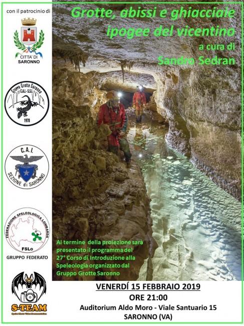 Serata a Saronno: Grotte, abissi e ghiacciaie ipogee del vicentino