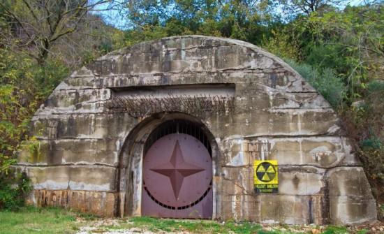 Uno degli ingressi al Bunker
