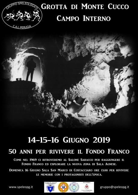Locandina raduno grotta del Cucco