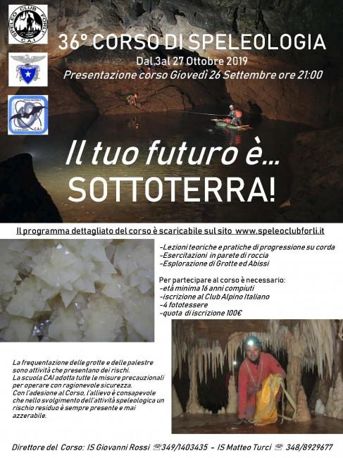 Corso di Speleologia a Forlì