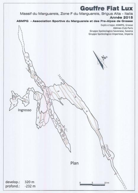 Pianta della Grotta Fiat Lux