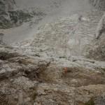 Calata per raggiungere una grotta sulla parete Fasana