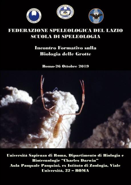 Corso di Biospeleologia federazione speleologica del lazio