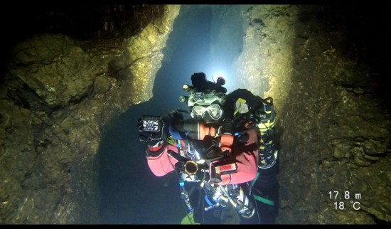 Record immersione speleosub Font Estramar