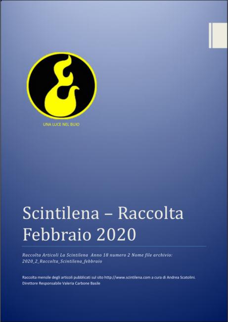 Raccolta mensile Scintilena Febbraio 2020