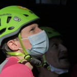 I soccorritori CNSAS all'opera con la mascherina