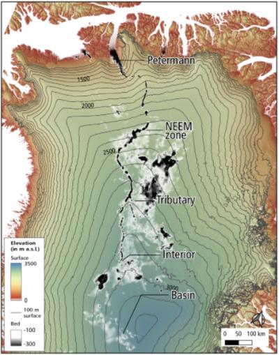 Fiume sotterraneo 1000 chilometri in Groenlandia