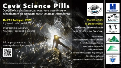 pillole di scienza in grotta Cave Science Pills