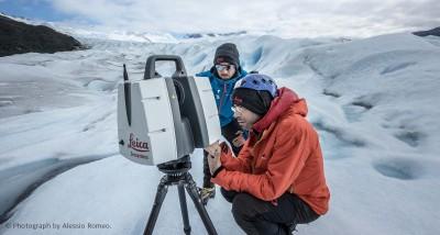 Scansione laser  sul Perito Moreno con tecnologia Leica