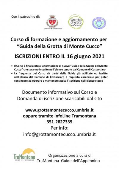 Bando guiide Grotta Monte Cucco