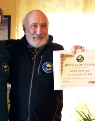 Ezio Burri socio onorario speleo Club teramo