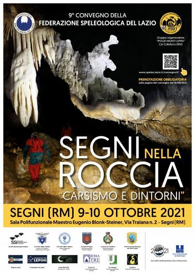 Convegno Federazione speleologica del Lazio locandina